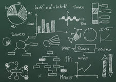 Charts and diagrams Royalty Free Stock Photo