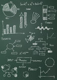 Charts and diagrams Royalty Free Stock Images
