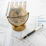 Charts, diagrams, tables. Business desktop Stock Image