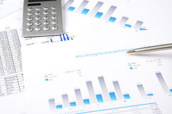 Charts, documents, blueprint Stock Photography