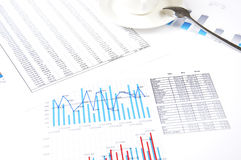 Charts, documents, business stilllife Stock Photography