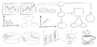 Charts doodles Stock Image