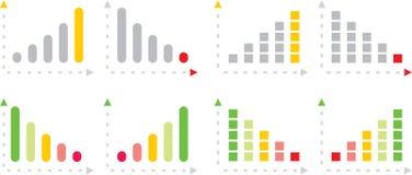 charts färgrikt Royaltyfri Foto