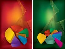 charts färgrikt Arkivbild