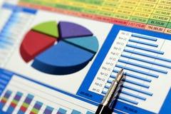 charts försäljningar Fotografering för Bildbyråer
