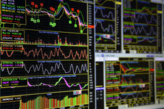 Charts of Financial Instruments Stock Image
