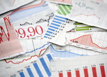 charts finansiellt Royaltyfria Foton