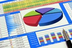 charts försäljningar Arkivbilder