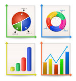 Charts and Graphs Collection Stock Photos