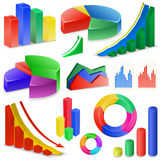 Charts and Graphs Collection Stock Photography