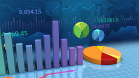 Charts and Graphs Loop stock footage