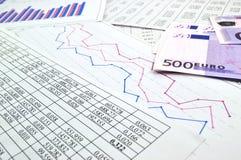 Charts and graphs Royalty Free Stock Photo