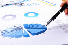 Charts and graphs of sales. A symbol of successful corporate business Royalty Free Stock Photos