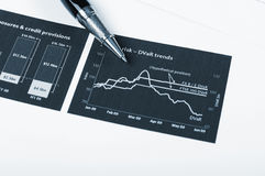 Charts and graphs of sales. A symbol of successful corporate business Stock Photos