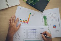 Charts and graphs of sales - a symbol of successful corporate business Stock Photos
