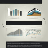 4 charts, graphs. Simply color editable. Infographics elements Stock Photography