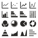 Charts Icons Royalty Free Stock Photos