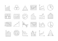 Charts icons set Royalty Free Stock Images