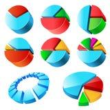 Charts. Illustration, isolated on a white background. Set Stock Photography