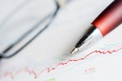 charts market stock Στοκ φωτογραφία με δικαίωμα ελεύθερης χρήσης