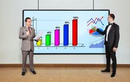 Charts on plasma panel Stock Images
