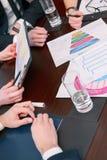 Charts presented at meeting Royalty Free Stock Photo
