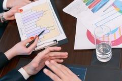 Charts presented at meeting Stock Photo