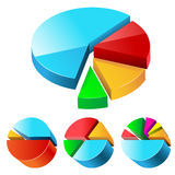 Charts set. Charts illustration, isolated on a white background. Set Stock Image