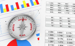 Charts and spreadsheet Royalty Free Stock Image