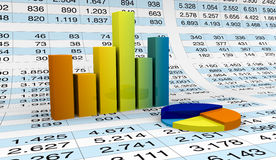 Charts and spreadsheets Royalty Free Stock Photo