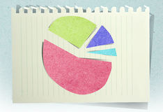 Charts with staple recycled paper craft stick Royalty Free Stock Photo