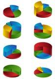 charts tiered Royaltyfri Bild