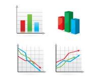 charts vektorn Arkivfoto