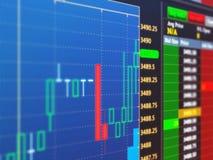 Charts on virtual screen Stock Photography