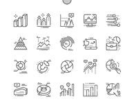 Charts Well-crafted Pixel Perfect Vector Thin Line Icons 30 2x Grid for Web Graphics and Apps. Simple Minimal Pictogram Stock Photos