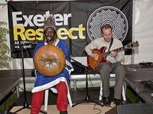 Chartwell Dutiro plays the mbira Stock Photos