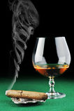 Charuto e bebida imagem de stock royalty free