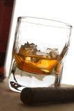 Charuto e bebida imagens de stock