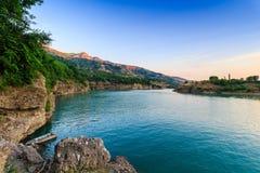 Charvak water reservoir. The nature of Uzbekistan. Royalty Free Stock Photo