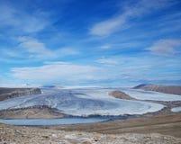 Charybdis glaciär på den Ellesmere ön arkivbilder