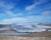 Charybdis-Gletscher auf Ellesmere-Insel stockbilder