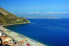 Charybdis strand royaltyfria bilder