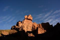 Charyn峡谷在哈萨克斯坦和旅行在国家 库存图片