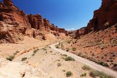 Charyn峡谷在哈萨克斯坦 库存照片