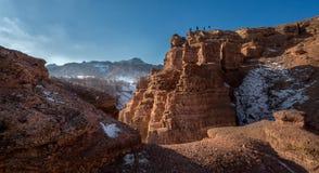 Charyn峡谷在阿尔玛蒂 免版税库存图片