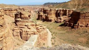 Charyn峡谷在Kasachstan 免版税图库摄影