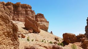 Charyn峡谷在Kasachstan 库存图片
