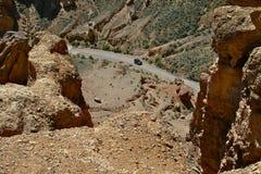 Charyn峡谷,哈萨克斯坦,阿尔玛蒂 库存照片