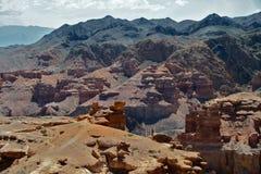 Charyn峡谷,哈萨克斯坦,阿尔玛蒂 图库摄影