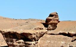 Charyn峡谷,哈萨克斯坦,阿尔玛蒂 免版税库存照片